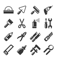 DIY Hand Tools Icons Set vector