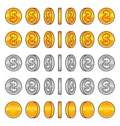 Dollar coins rotation vector