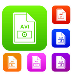 File avi set collection vector