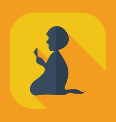 Flat modern design with shadow icons prayer vector