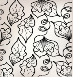 floral embroidery vector image