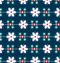 flowers geometry pattern vector image