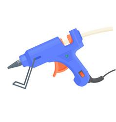 Glue gun hot pistol equipment for craft and art vector