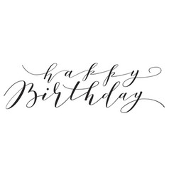 hand lettering happy birthday vector image