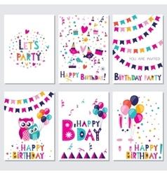 happy birthday let s birthday party vector image