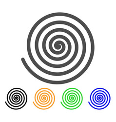 Hypnosis spiral flat icon vector