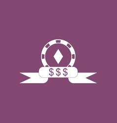 Icon casino chip dollar symbol vector