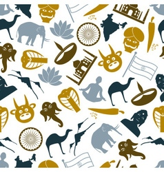 India country theme symbols icons pattern eps10 vector