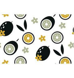 kiwi seamless pattern hand drawn fresh tropical vector image