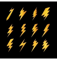 Lightning icons collection vector image