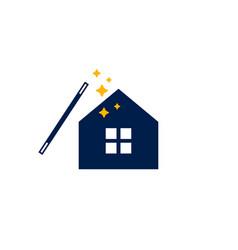 magic house logo icon vector image