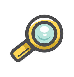 magnify magnifying glass icon cartoon vector image