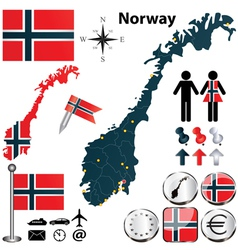 Map of norway vector