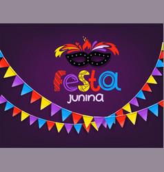 Masquerade concept festa junina vector