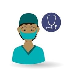 Medical care concept Nurse icon White background vector