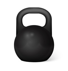 Metal dumbbell - isolated on white vector
