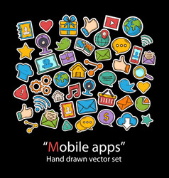 Mobile appsscrapbookfashion patch badges vector