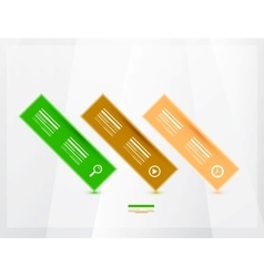 Modern progress infographics banners vector image