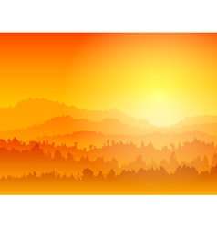 mountain sunset vector image