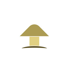 mushroom logo icon symbol element vector image