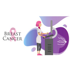 National breast cancer awareness month poster with vector