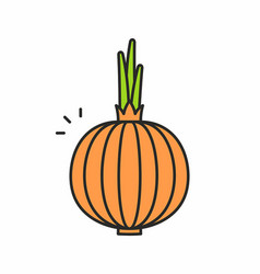 Onion icon vector