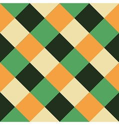 Orange Green Chess Board Diamond Background vector