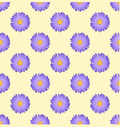 Purple aster flower on ivory beige background vector