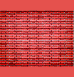 red brick wall texture background design vector image