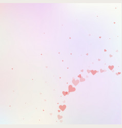Red heart love confettis valentines day corner d vector