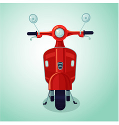 red vintage moto scooter isolated cartoon vector image