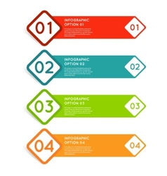 Rounded squares infographics options banner vector