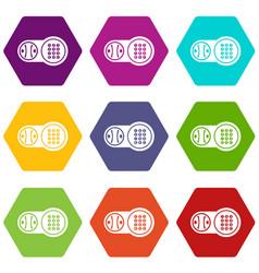 safe key lock icons set 9 vector image