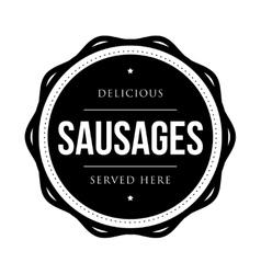 Sausages vintage stamp vector