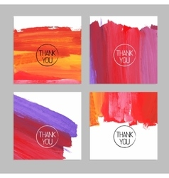 set abstract hand drawn acrylic backgrounds vector image