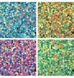 Set of Seamless Triangle Abstract Backgrounds vector image
