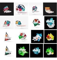 Set of various universal geometric layouts vector