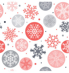 snowflakes seamless pattern winter concept vector image