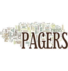 The benefits of pagers text background word cloud vector
