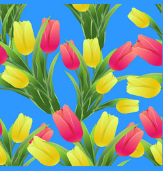 Tulips simless pattern 01-01 vector