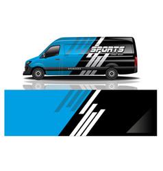 van car decal wrap design vector image