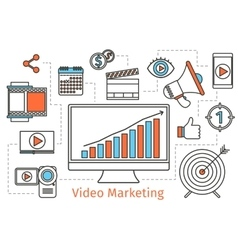 Video marketing strategy Abstract social vector