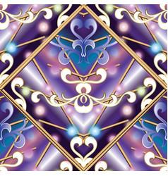 vintage seamless pattern modern geometric vector image
