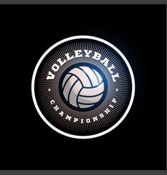Volleyball circular logo modern professional vector