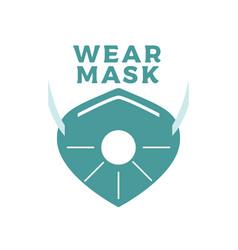 wear mask concept coronavirus covid19 vector image