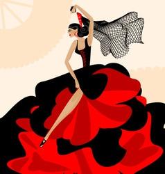 Woman flamenco vector