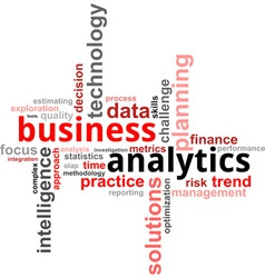 word cloud business analytics vector image
