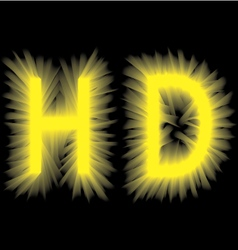 Yellow smoke volume label on a black background vector image