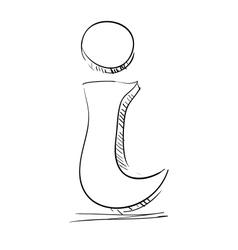 Info icon sketch vector image