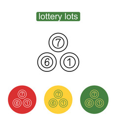 lottery balls icon vector image vector image